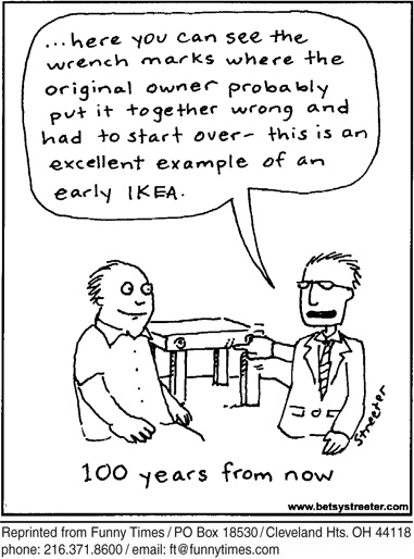 Funny ikea streeter antique  cartoon, March 28, 2012