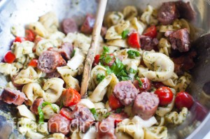 Grilled Sausage and Tortelli Recipe - Quick and Easy Meal Idea