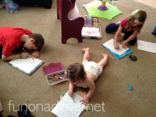 Coloring activities that really keep them busy during General Conference.