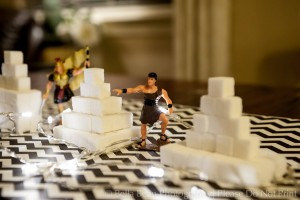 Family night ideas! How about sugar cube temples