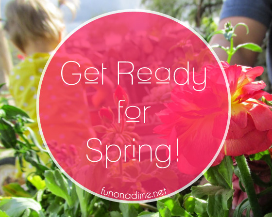 spring flower planting with kids