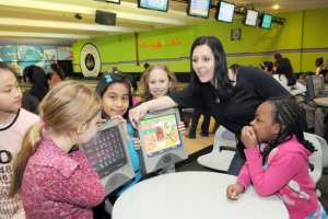 Teacher with Students at Rab's Country Bowling