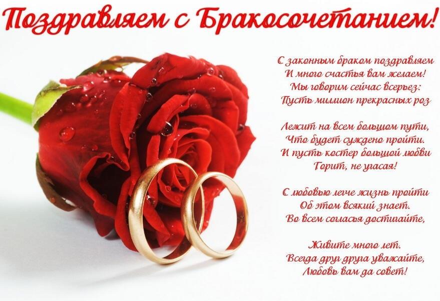 Свадебная открытка поздравления