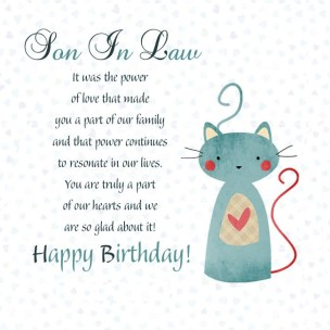Birthday Quotes for Son in Law