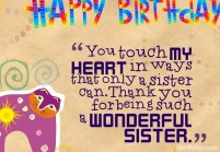Birthday Quotes for only Sister