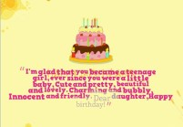 Birthday Quotes for Teenage daughter