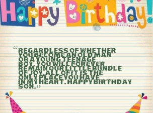 Birthday Quotes for Teenage sons