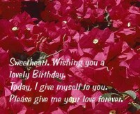 Birthday Quotes for wife in English