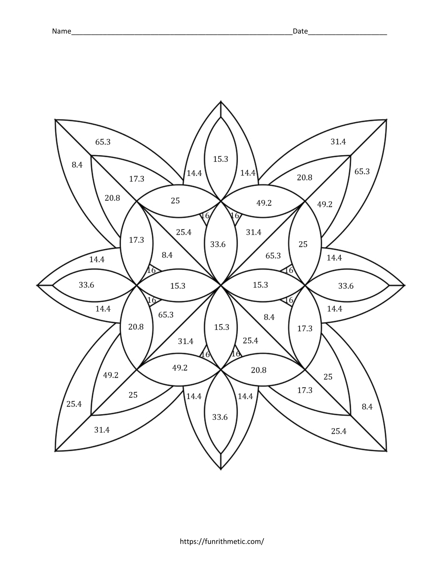 Geometry Skills Color By Number Bundle 3 More Skills Funrithmetic [ 2200 x 1700 Pixel ]