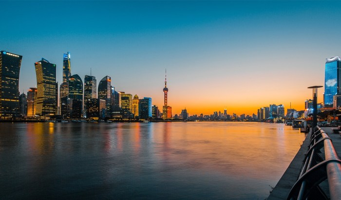 Huangpu River near Shanghai Pudong International Airport