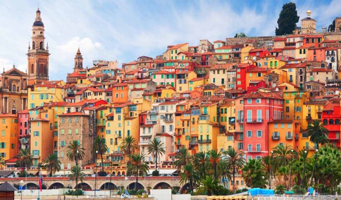 Historical colorful city - Menton, France