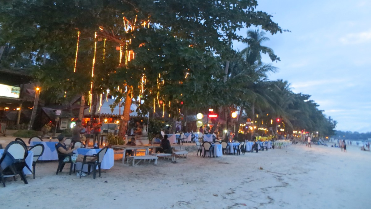 Alona Beach At Night (Philippines)