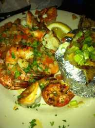 Garlic Grilled shrimp with tomato pico.