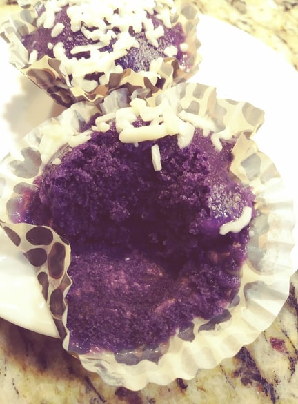 Puto Ube With Cheese