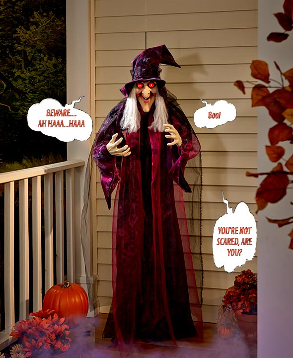 """71"""" Hanging Talking Witch for halloween decoration"""