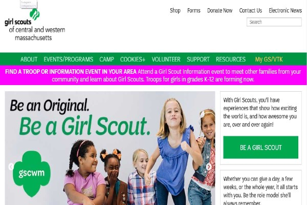 Central MA Youth Programs: Girl Scouts Central Western MA.