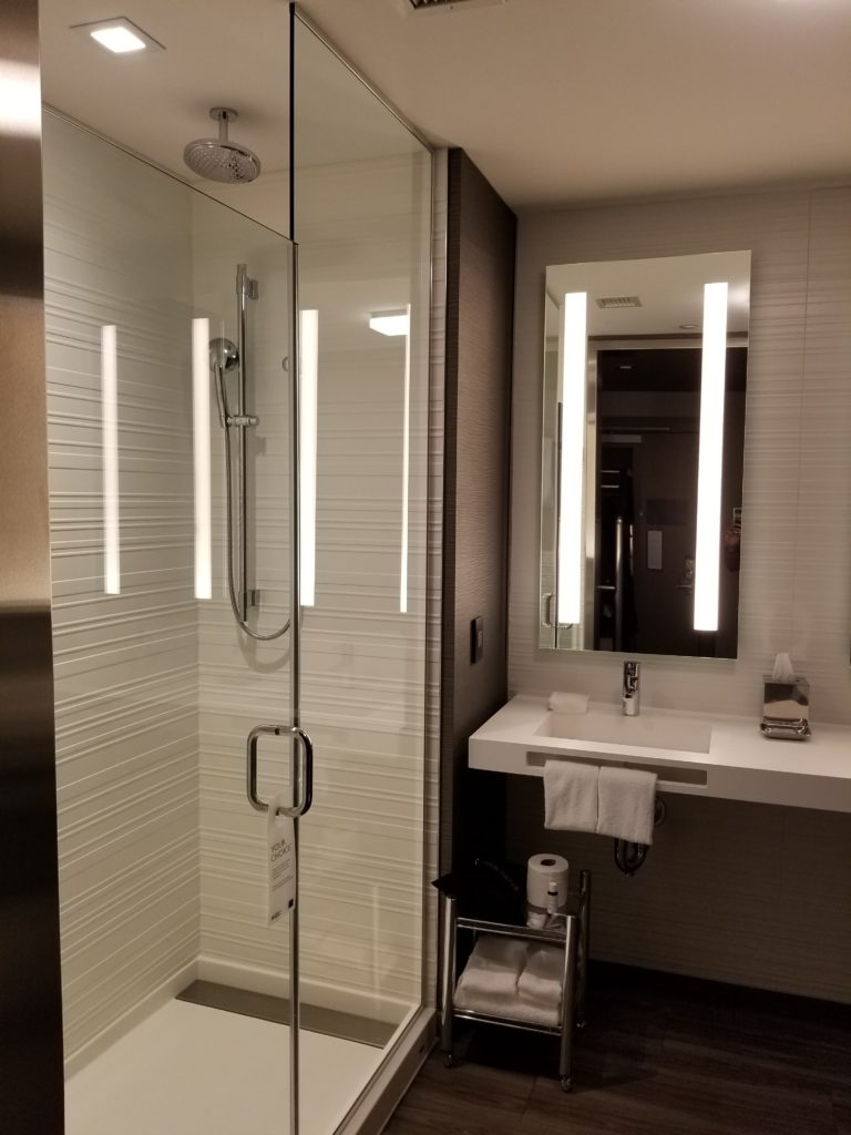 Bathroom in 1 Bedroom Suite AC Hotel Cambridge