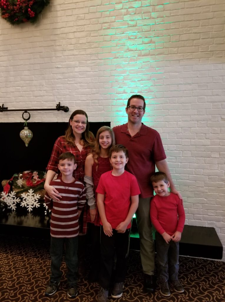 Brunch with Santa Family photo