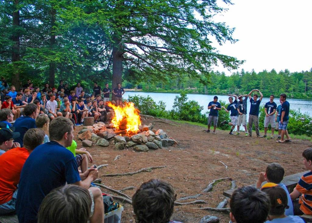 Camp Takodah YMCA campfire