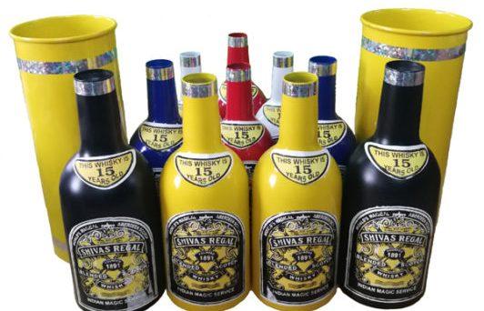 Multiplying bottles colored # 10