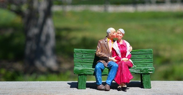 Happy Hug Day 2021 old couple