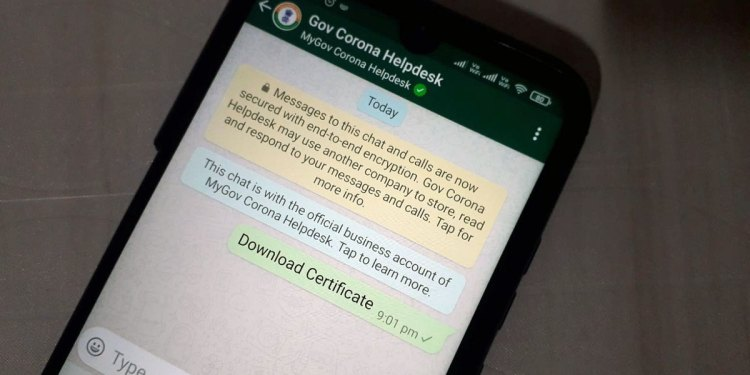Steps To Download Covid-19 Vaccine Certificate Using Whatsapp
