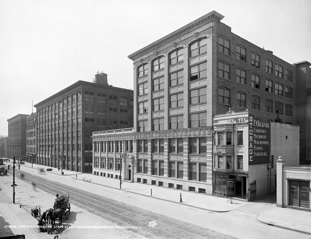 The Kodak factory and main office in Rochester, circa 1910 | By Detroit Publishing Company