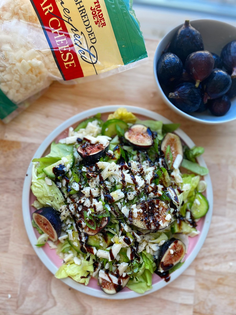 Fresh Fig Salad with Balsamic Glaze & Unexpected Cheddar