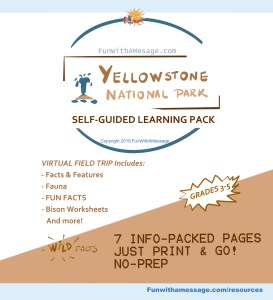 self guided pack yellowstone field trip