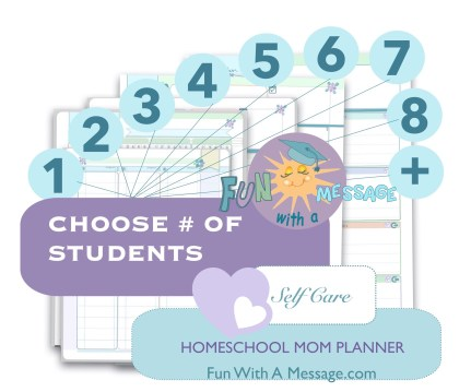 CHOOSE NUMBER OF STUDENTS FOR PERFECT FIT HOMESCHOOL PLANNER