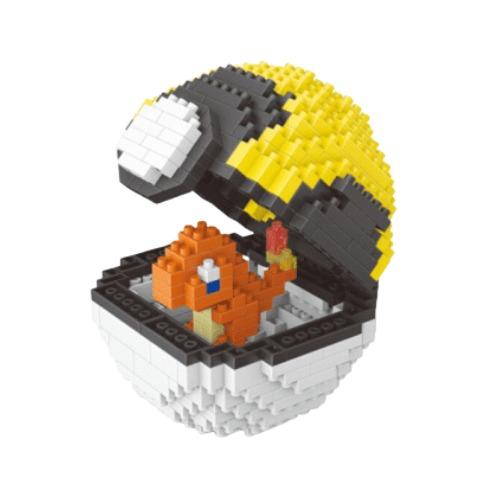 Wise Hawk Pokeball Charmander miniblock - Pokémon - 419 mini blocks