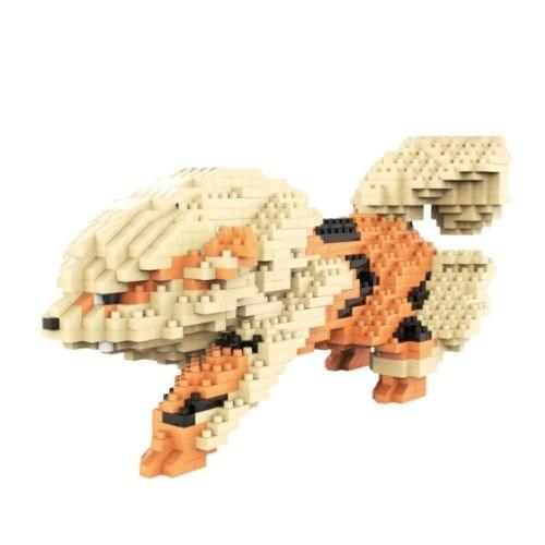 Chakra Arcanine miniblock - Pokémon- 1780 mini blocks