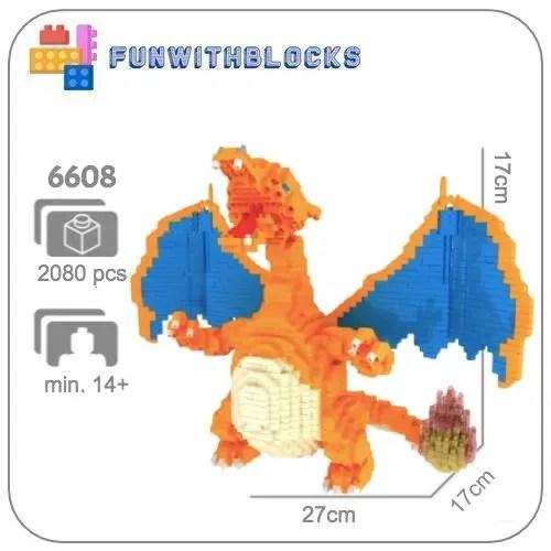 Mepin Charizard miniblock - Pokémon - 2080 mini blocks