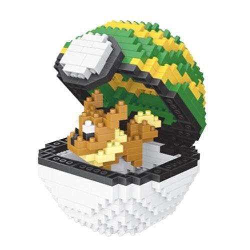 Wise Hawk Pokeball Eevee miniblock - Pokémon - 450 mini blocks