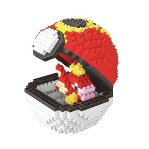 Wise Hawk Pokeball Magikarp miniblock - Pokémon - 452 mini blocks