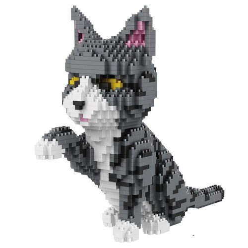 Balody Grijze Kat miniblock - 1300 mini blocks