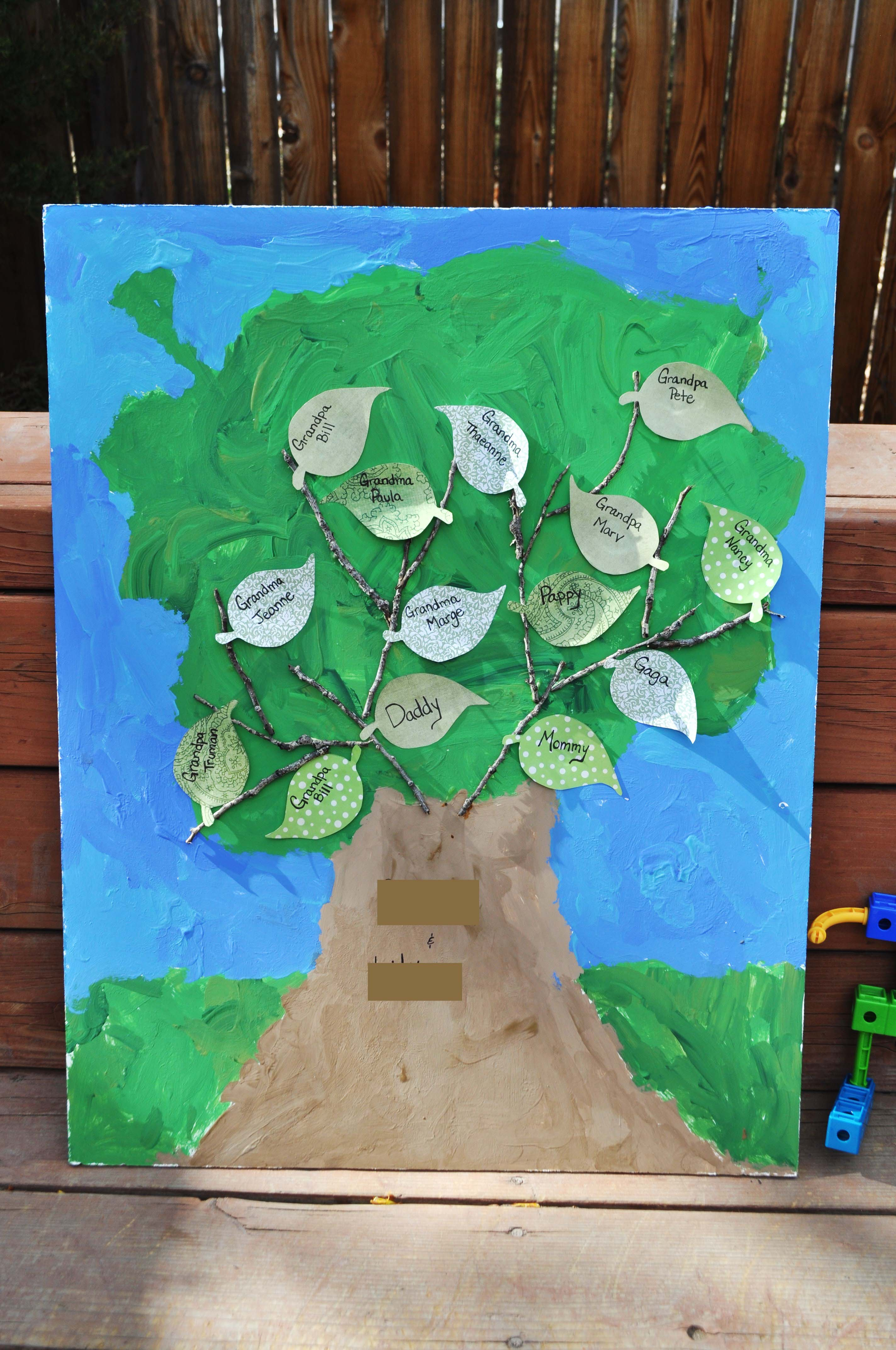 Friday S Family History Craft A Family Tree For The