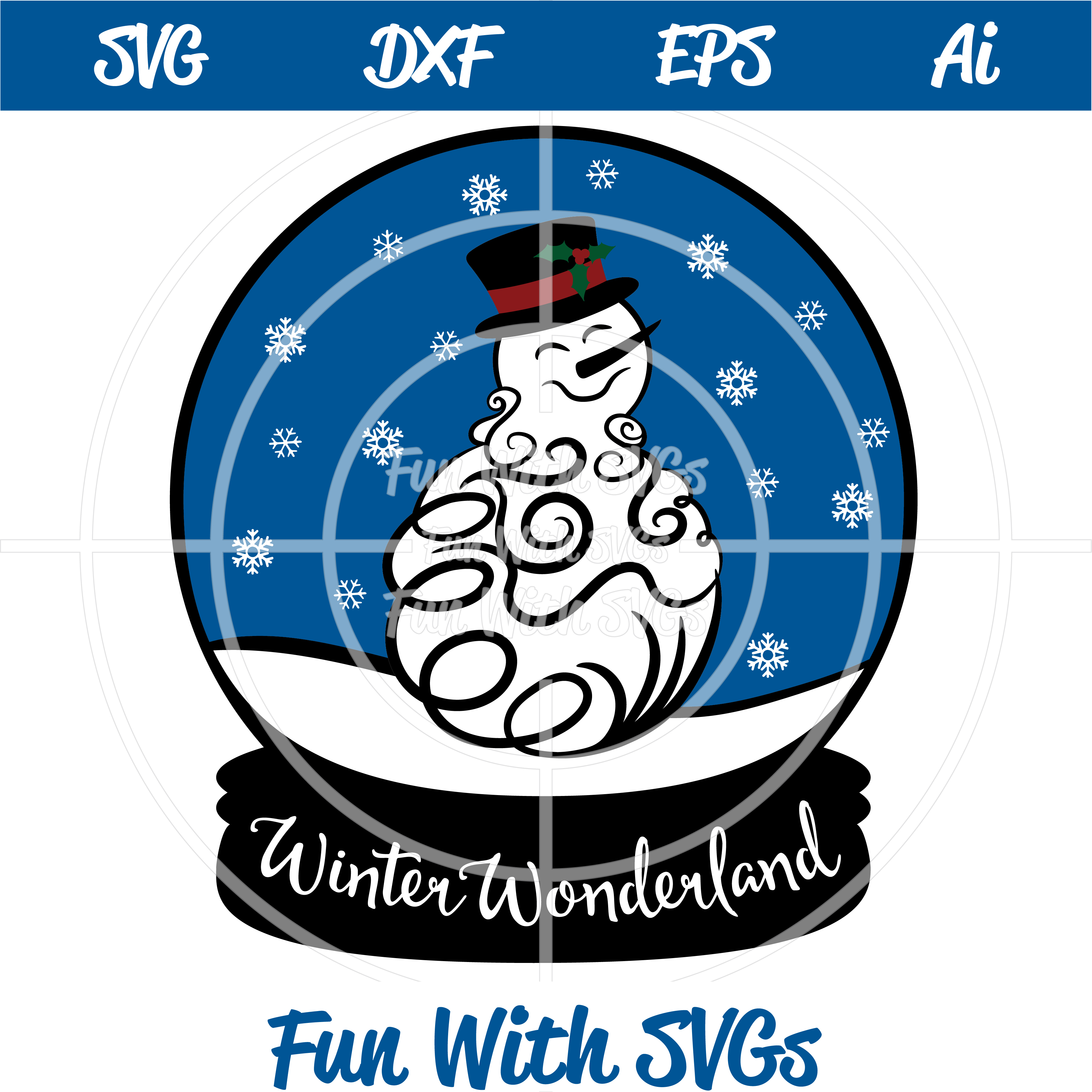 Snowglobe Snowman Svg Cutting File Fun With Svgs Winter Wonderland