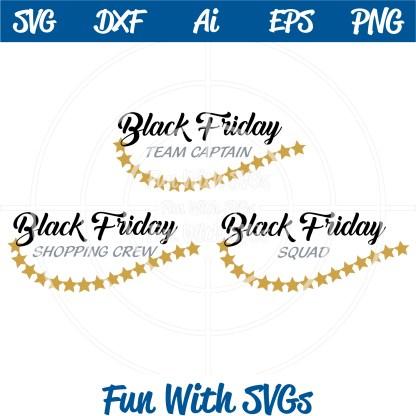 Black Friday Team Shopping SVG Image