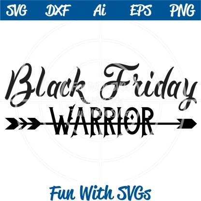 Black Friday Warrior SVG Image