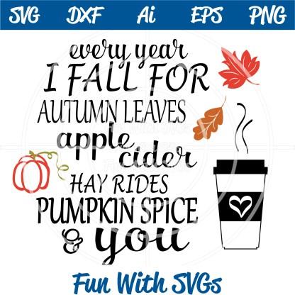 Autumn Pumpkin Spice SVG Image