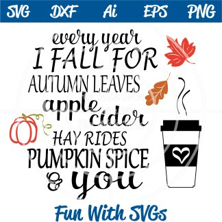 Autumn Pumpkin Spice SVG Image
