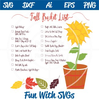 Fall Bucket List SVG Image