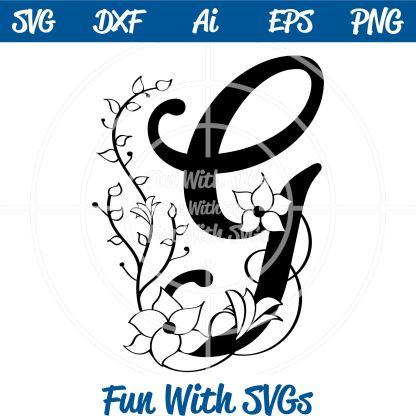 Letter G Monogram Samantha Font SVG Image