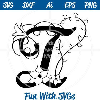 Letter I Monogram SVG Image
