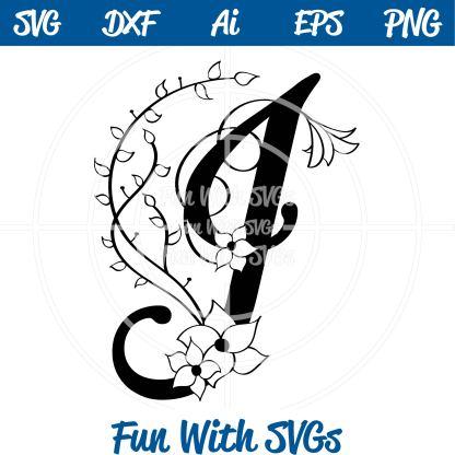 Letter J Monogram SVG File