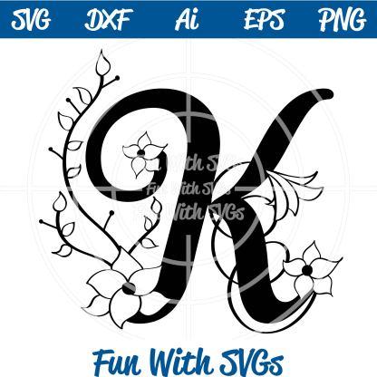 Letter K Monogram SVG Image