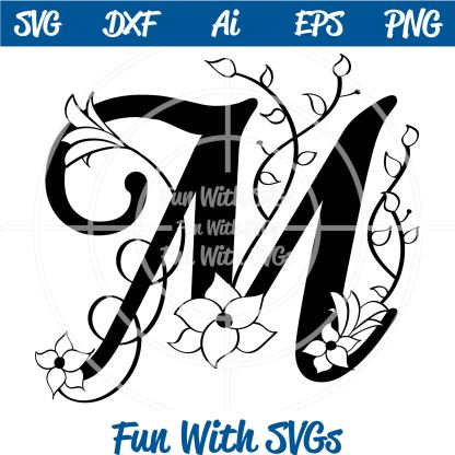 Samantha M Monogram SVG Image