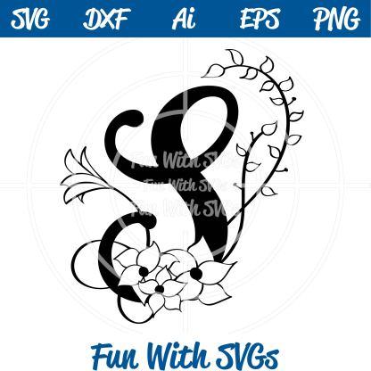 Letter S Monogram SVG Image