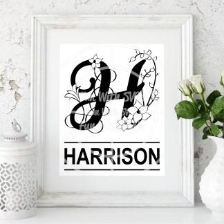 Letter H Monogram Mock Up Image